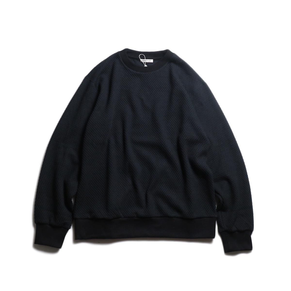 UNIVERSAL PRODUCTS / MIDDLE WAFFLE CREW (Black)
