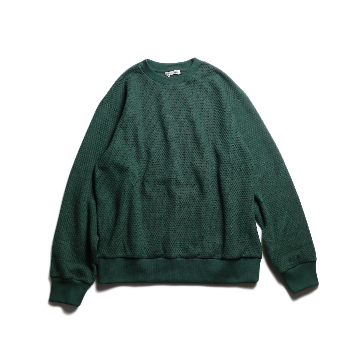 UNIVERSAL PRODUCTS / MIDDLE WAFFLE CREW (Green)