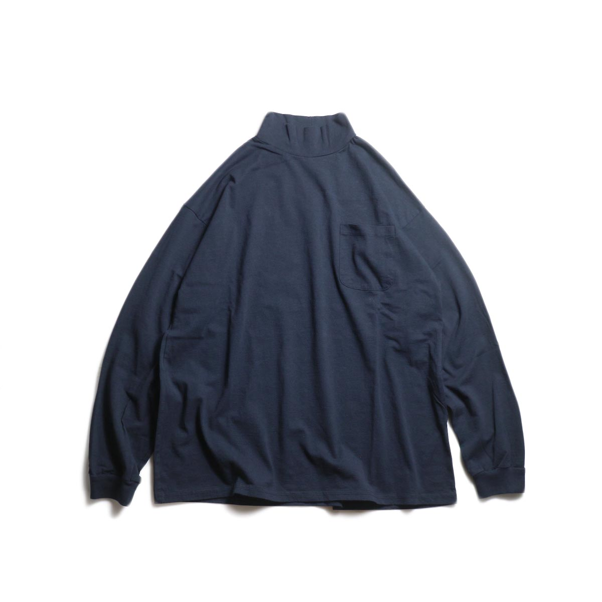 UNIVERSAL PRODUCTS / HEAVY WEIGHT L/S MOCK NECK T-SHIRT (Navy)