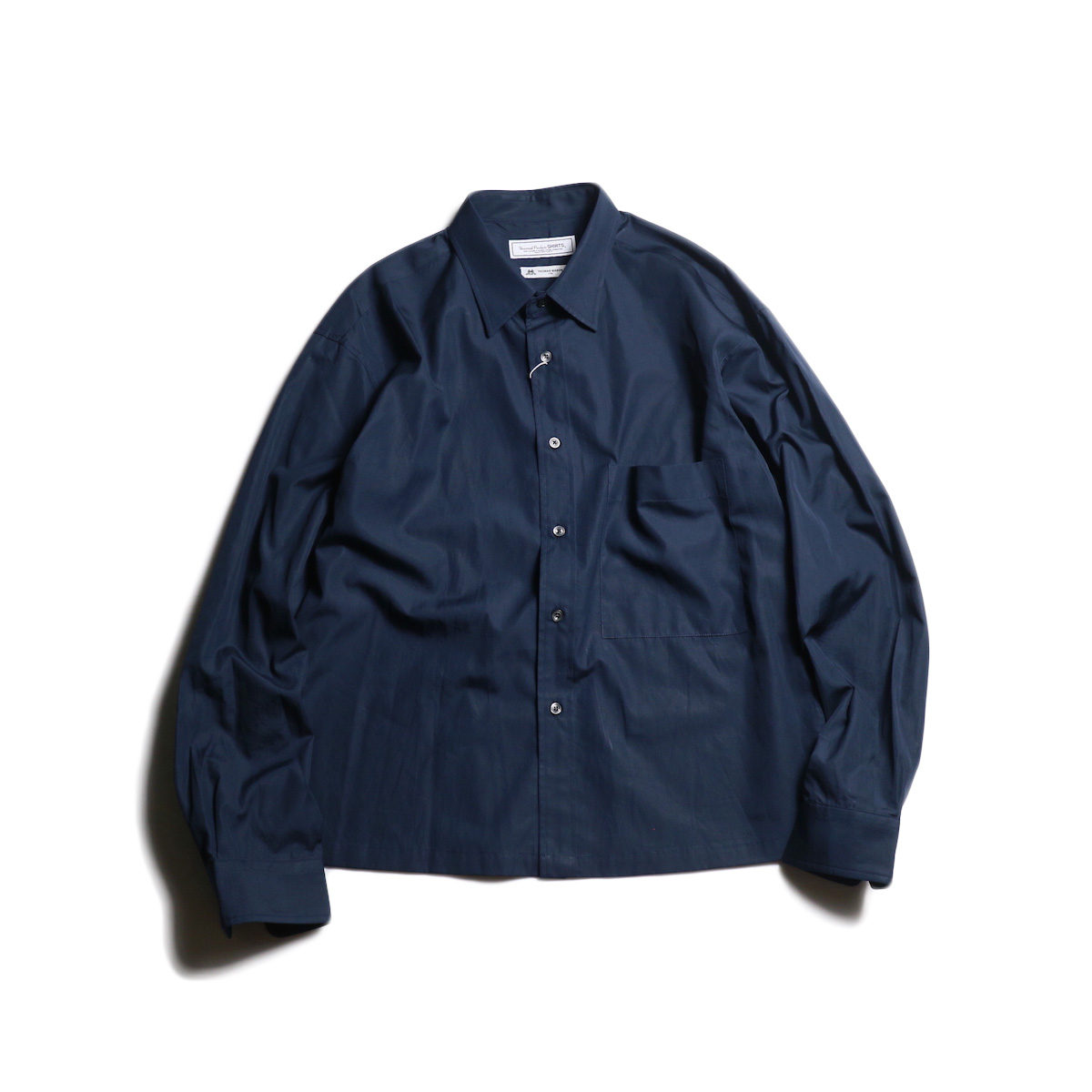 UNIVERSAL PRODUCTS / T.M. BOX SHIRT (Navy)