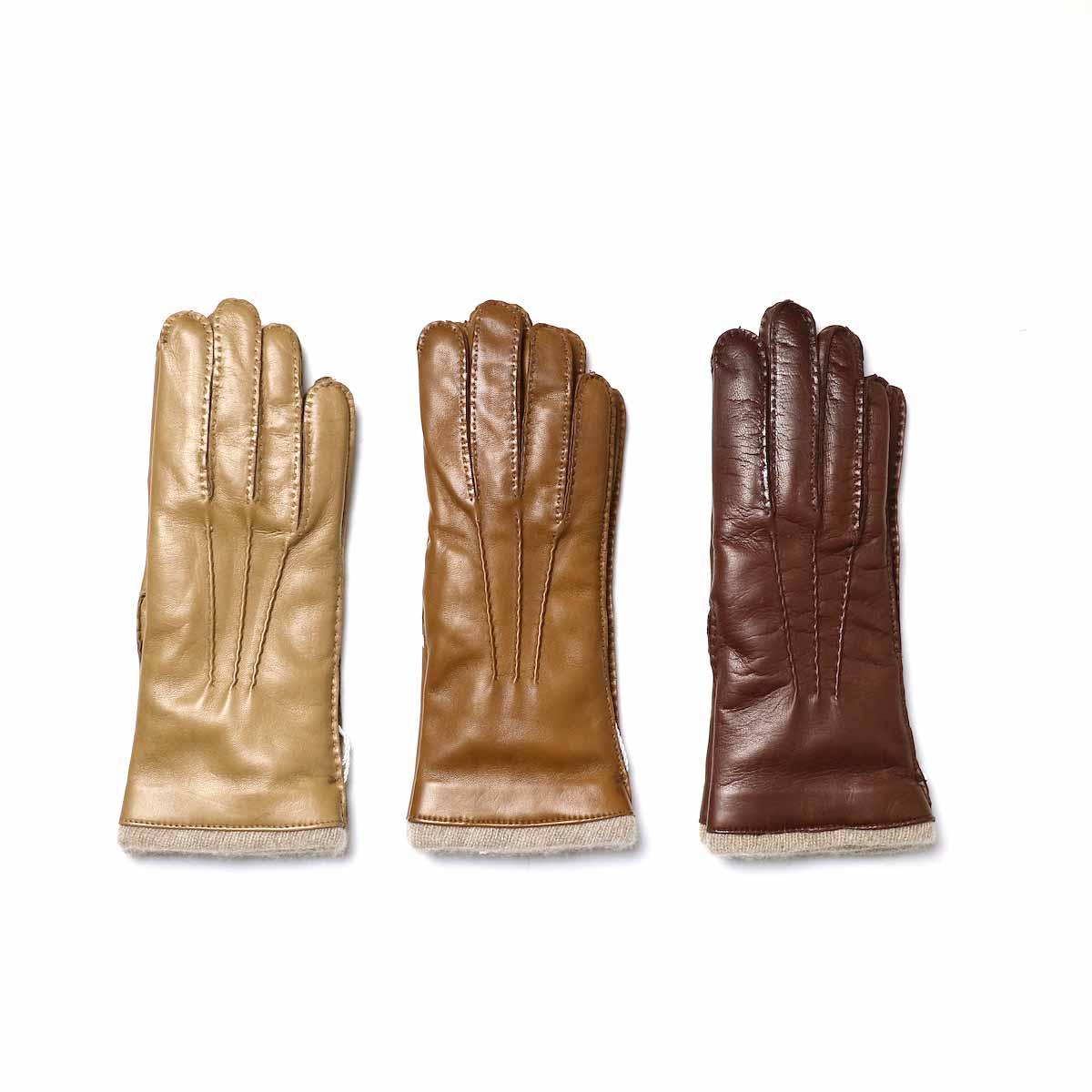 Italguanto / Leather Glove 左からBeige・Camel・Brown
