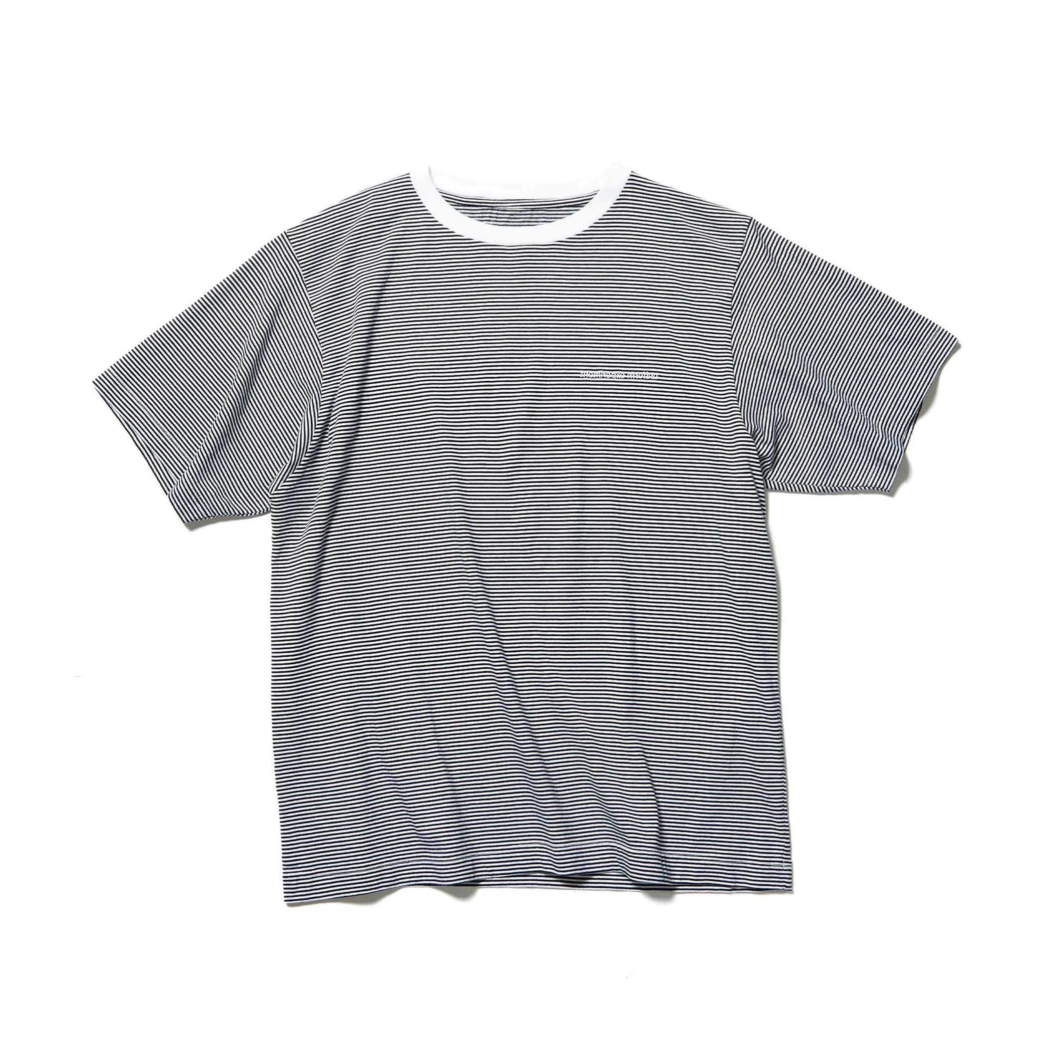 uniform experiment / NARROW BORDER WIDE TEE (Black)