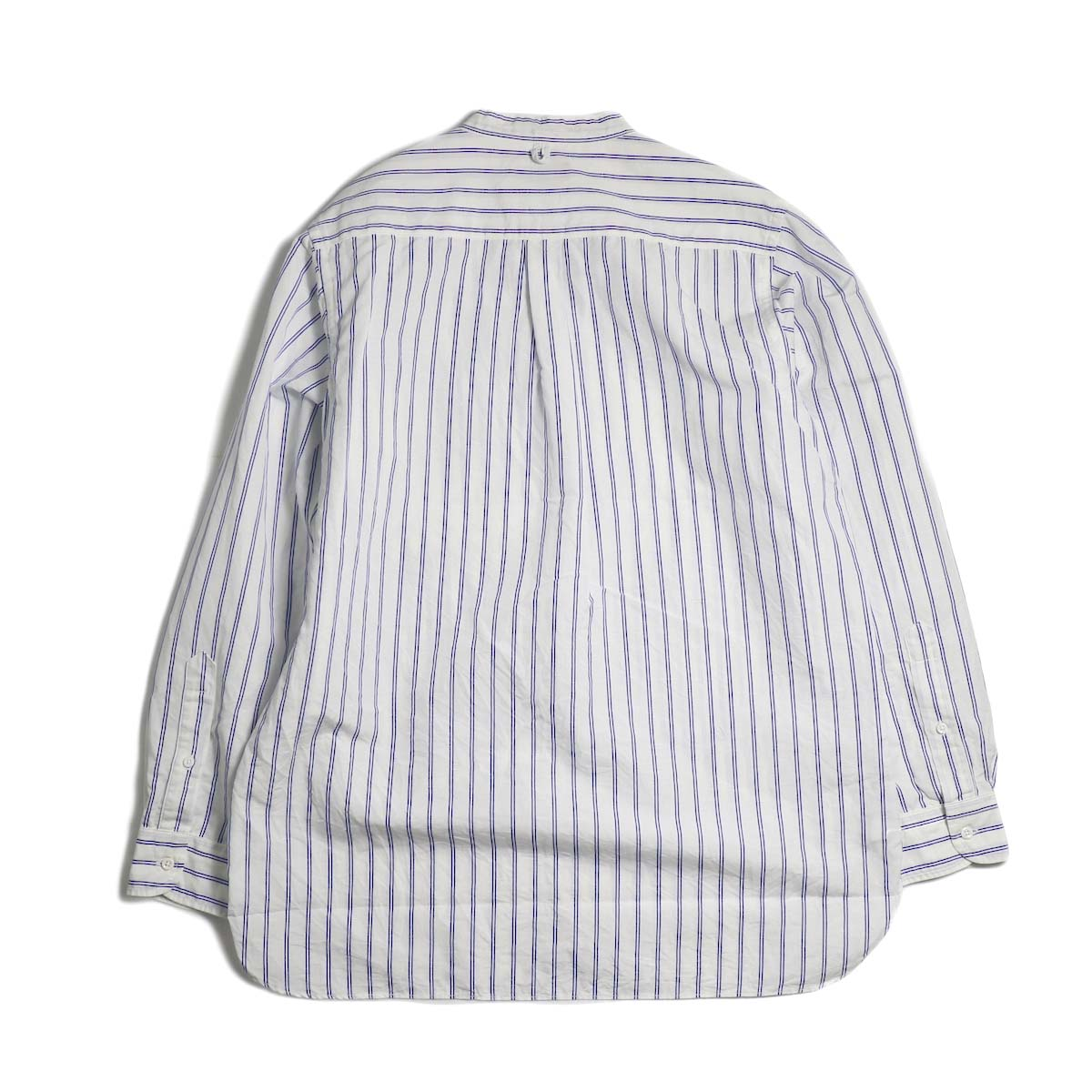 A VONTADE / Banded Collar Shirts -Blue Stripe 背面