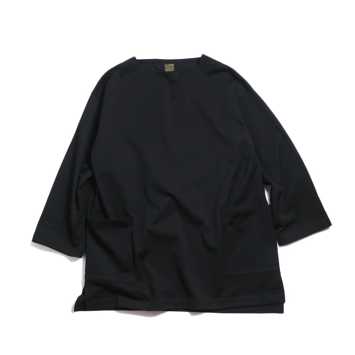 A VONTADE / Boatneck 3/4 Sleeve -Black
