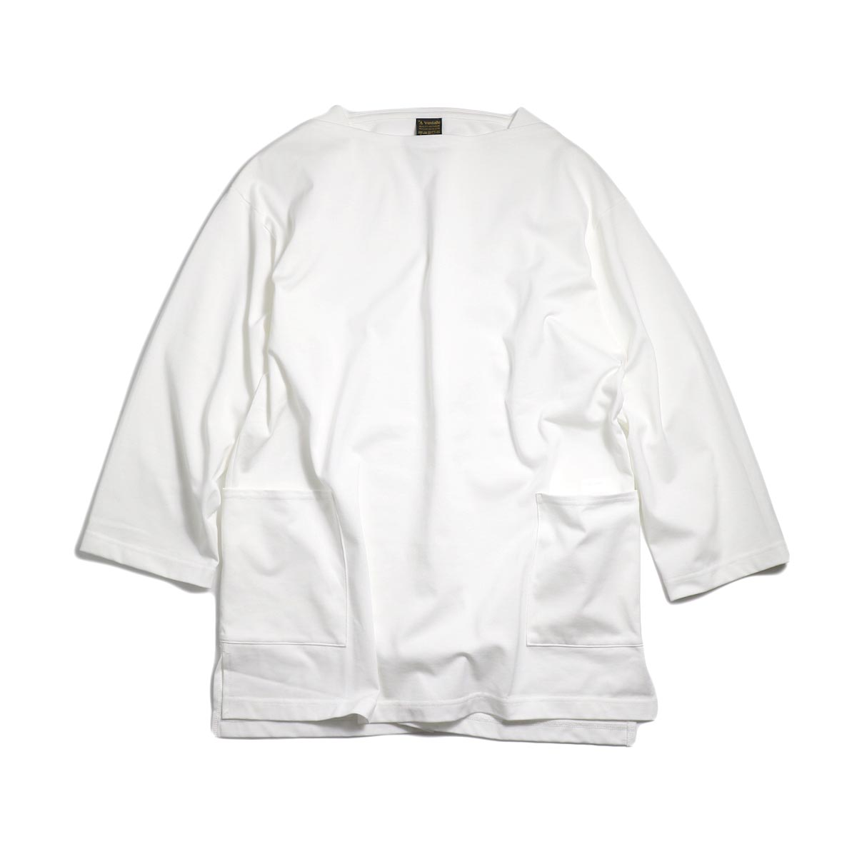 A VONTADE / Boatneck 3/4 Sleeve -White