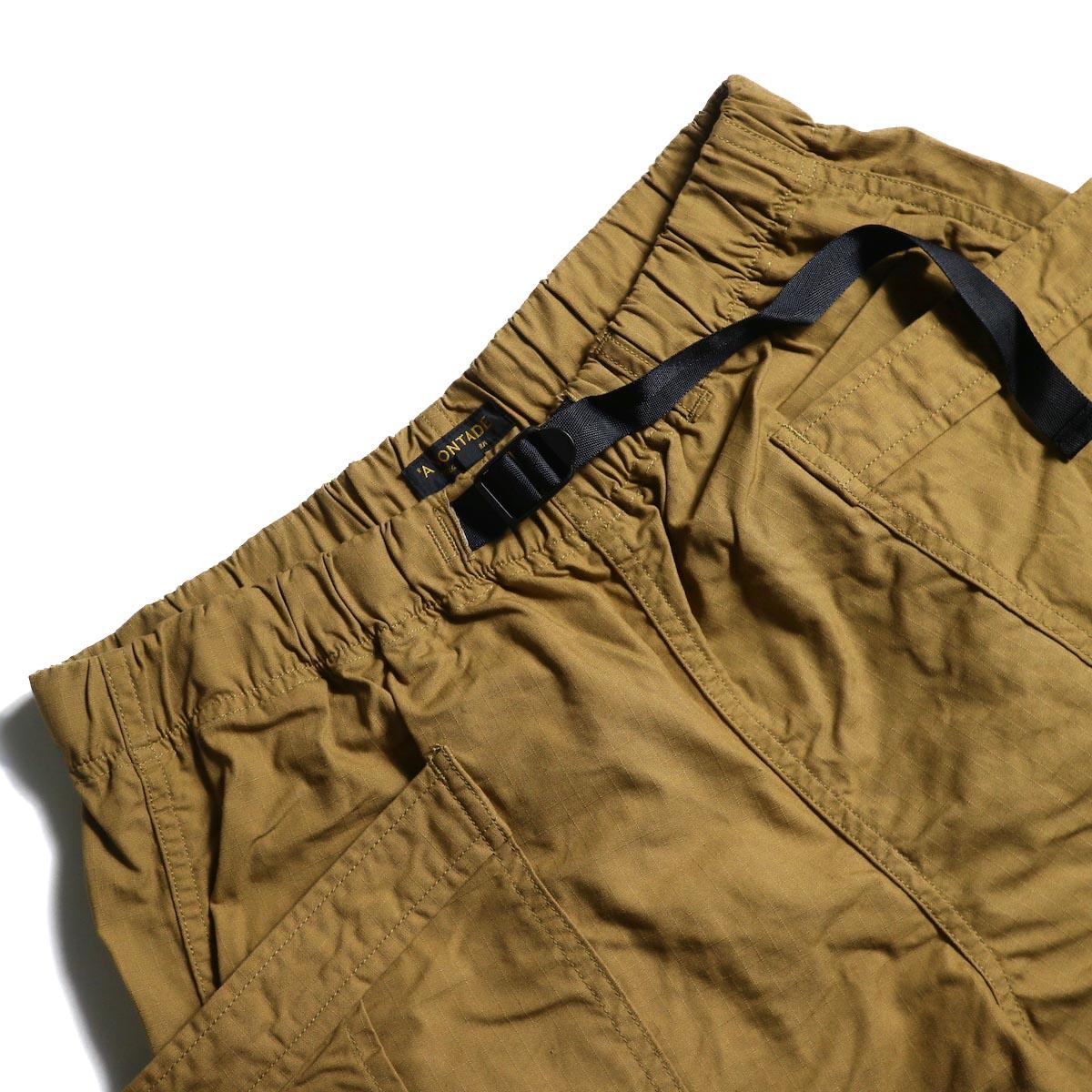A VONTADE / Fatigue Shorts (Camel)  ウエスト