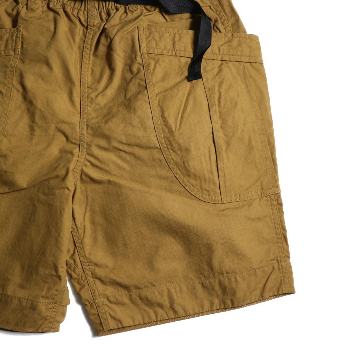 A VONTADE / Fatigue Shorts (Camel)  ポケット
