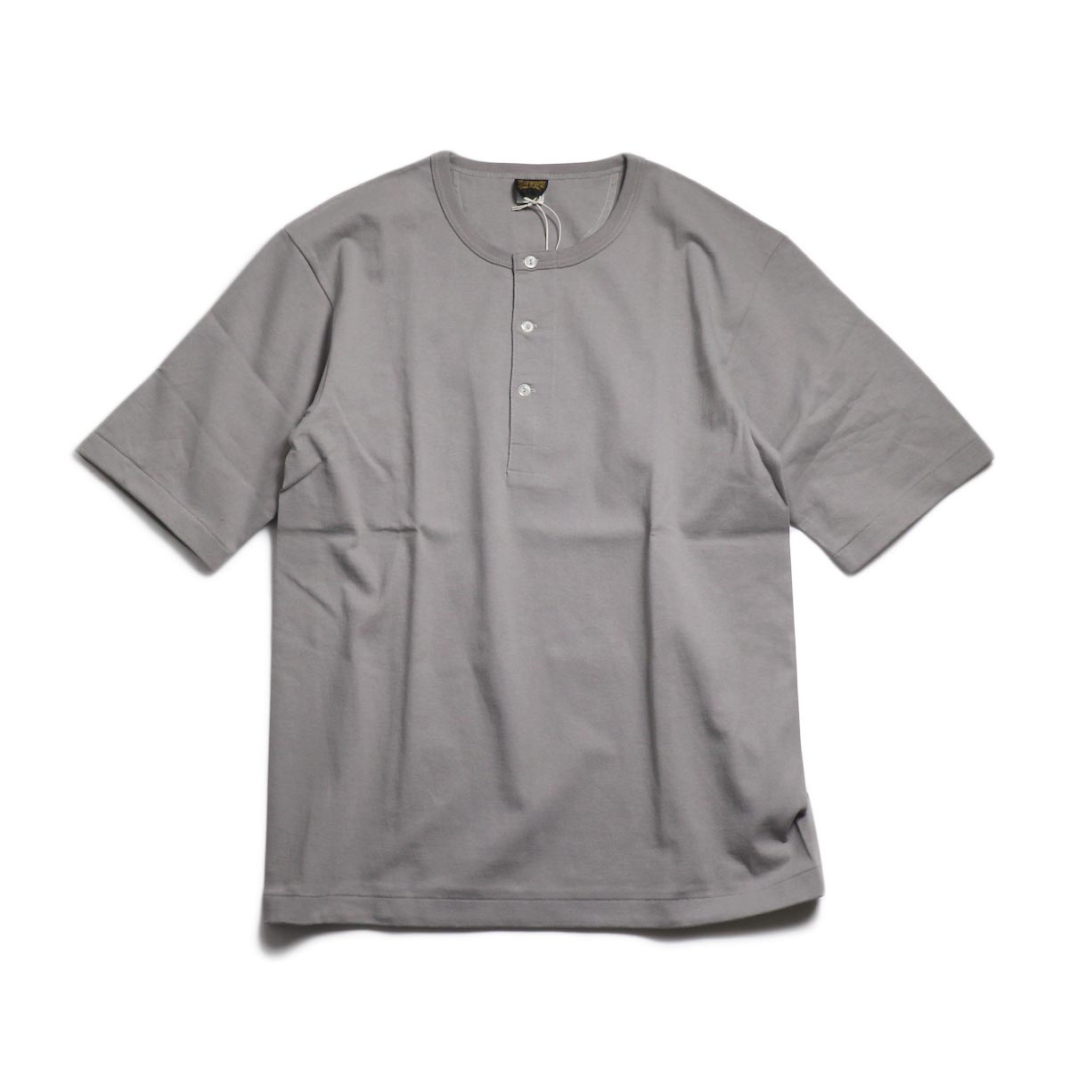 A VONTADE / 1/2 Sleeve Classic Henly Shirts -Silver Grey