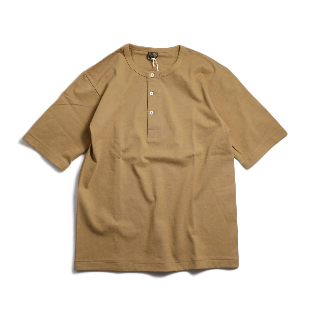 A VONTADE / 1/2 Sleeve Classic Henly Shirts -Khaki