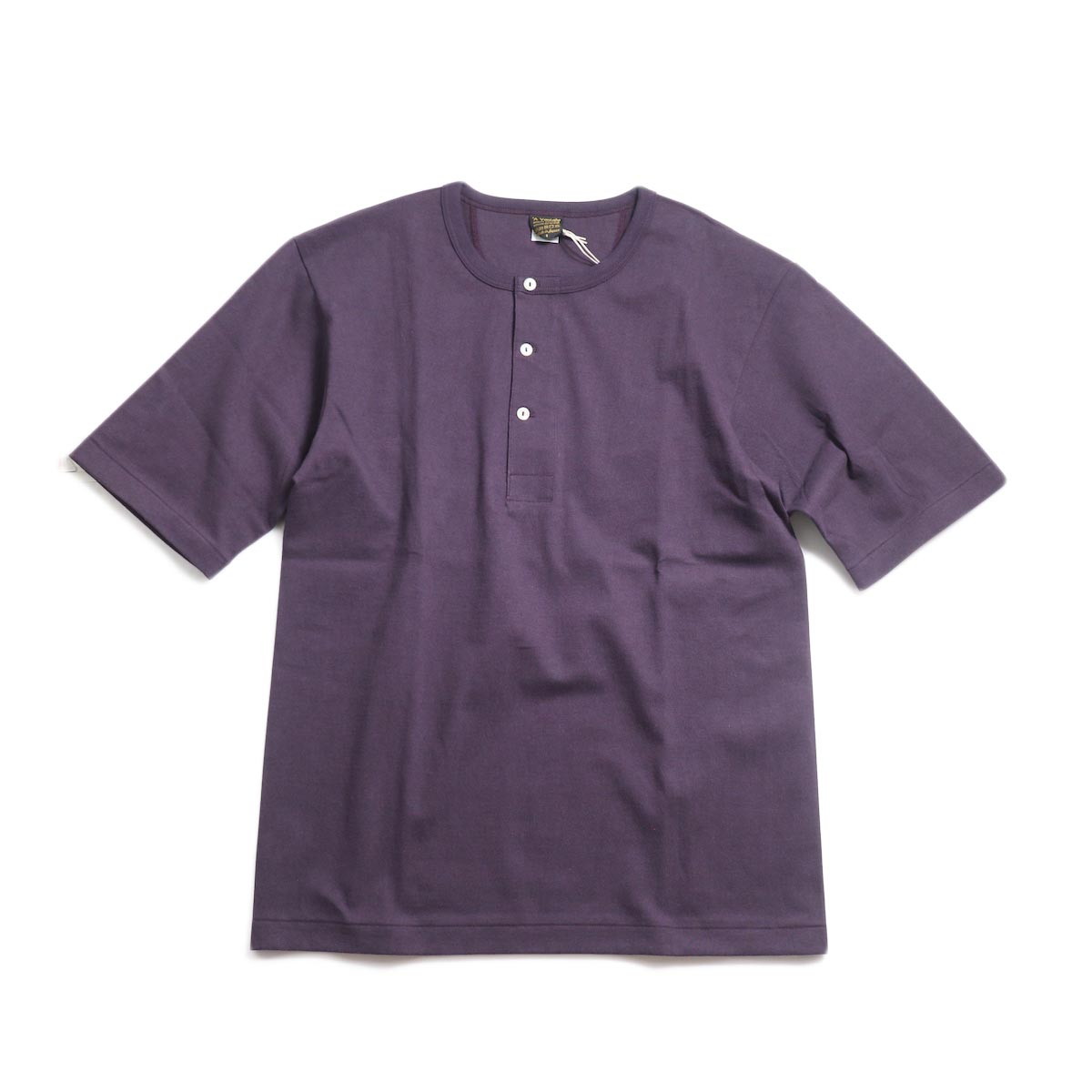 A VONTADE / 1/2 Sleeve Classic Henly Shirts -Plum 正面