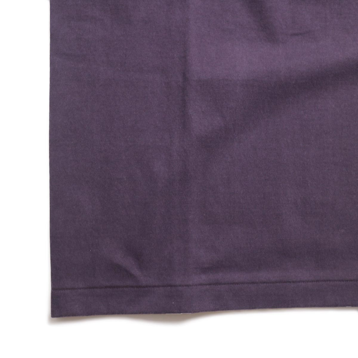 A VONTADE / 1/2 Sleeve Classic Henly Shirts -Plum 裾