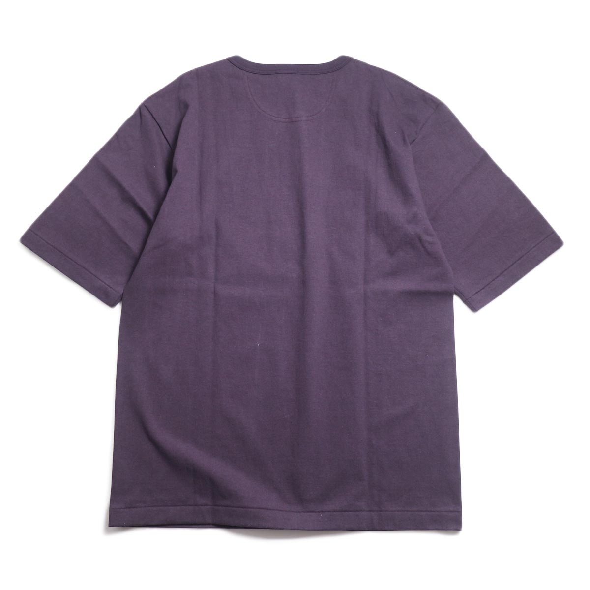 A VONTADE / 1/2 Sleeve Classic Henly Shirts -Plum 背面