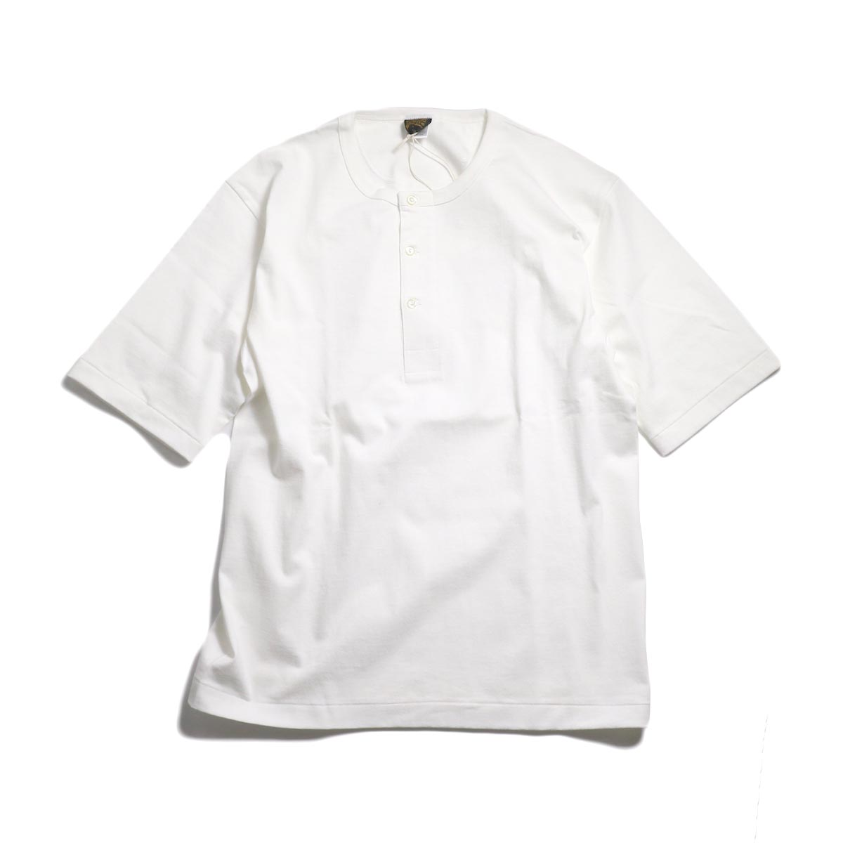 A VONTADE / 1/2 Sleeve Classic Henly Shirts -White 正面