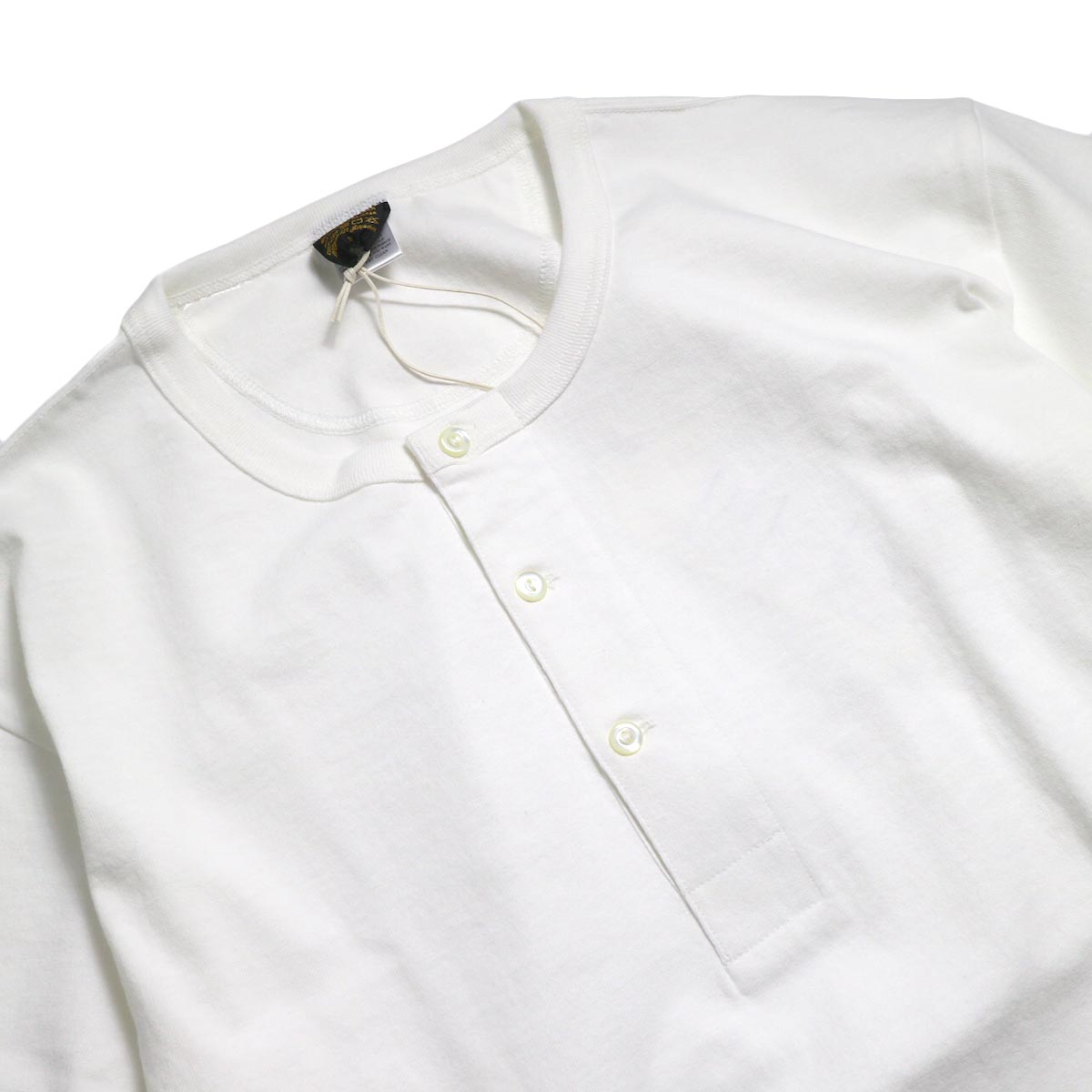 A VONTADE / 1/2 Sleeve Classic Henly Shirts -White 襟