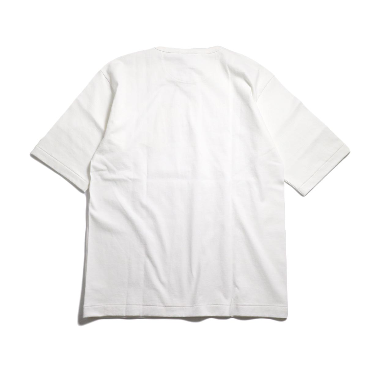 A VONTADE / 1/2 Sleeve Classic Henly Shirts -White 背面