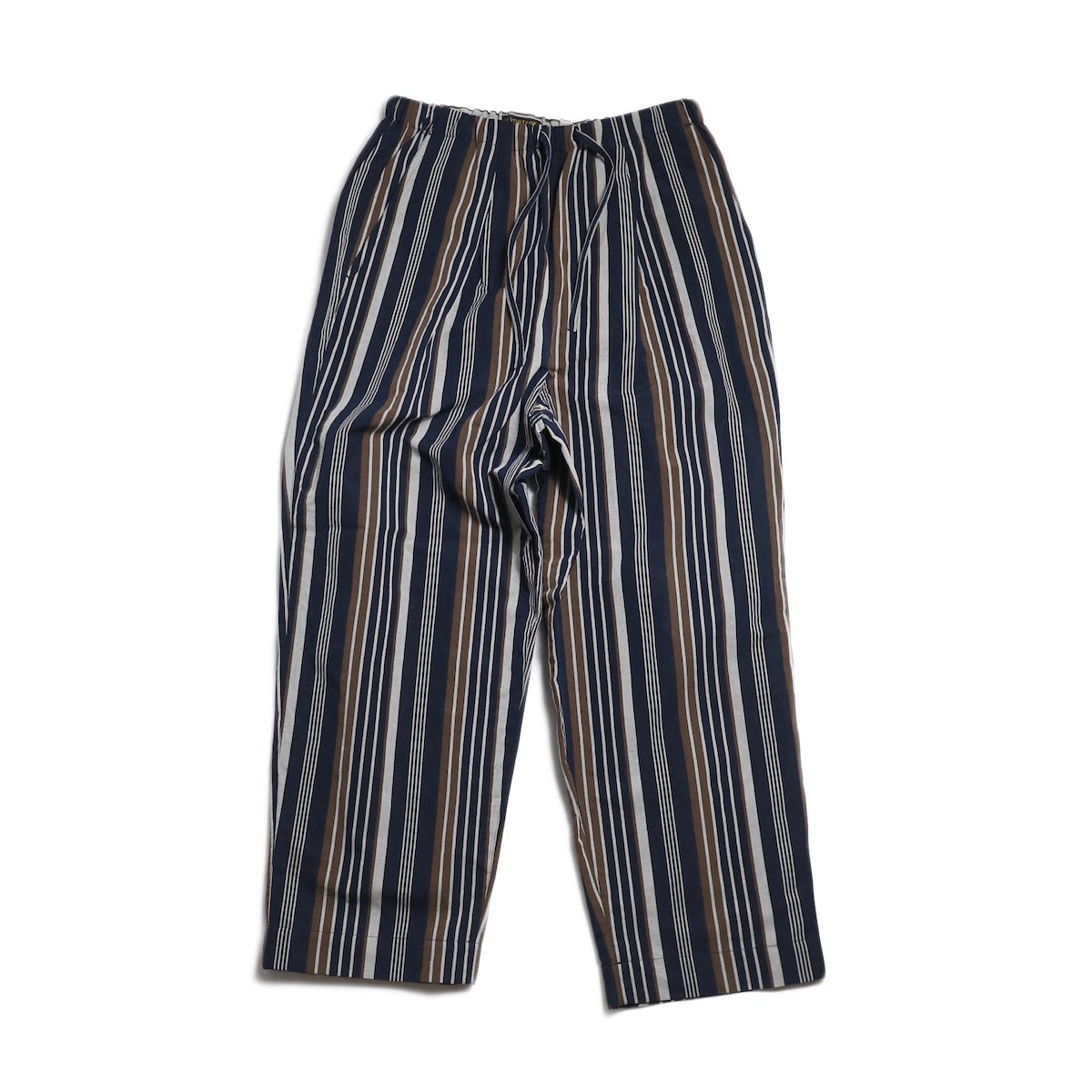 A VONTADE / Lax Easy Pants -Navy Stripe 正面