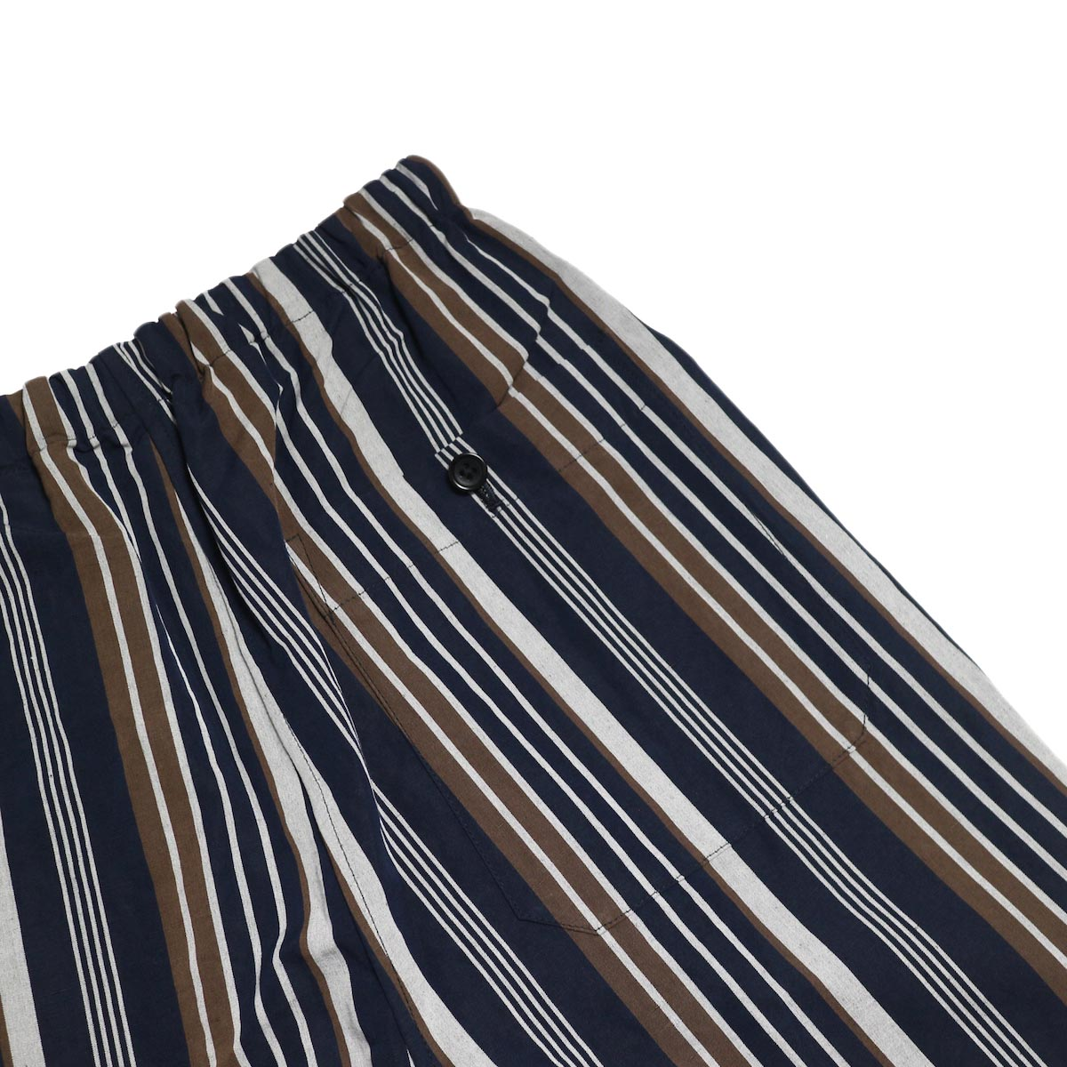 A VONTADE / Lax Easy Pants -Navy Stripe バックポケット