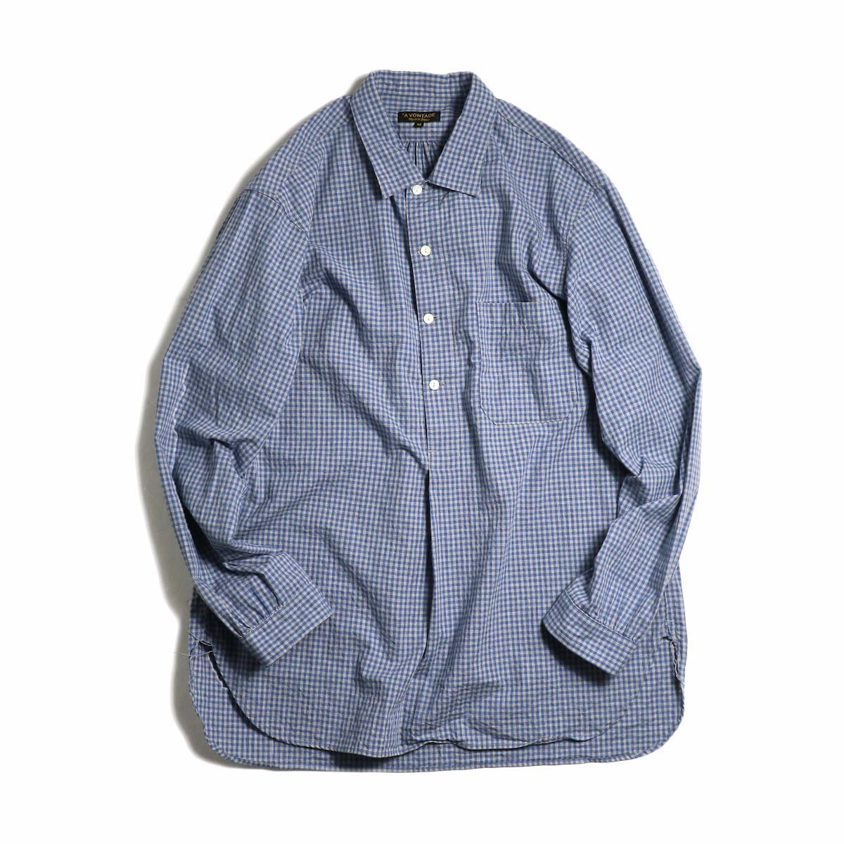 A VONTADE / Classic Pullover Shirt L/S -BlueGray