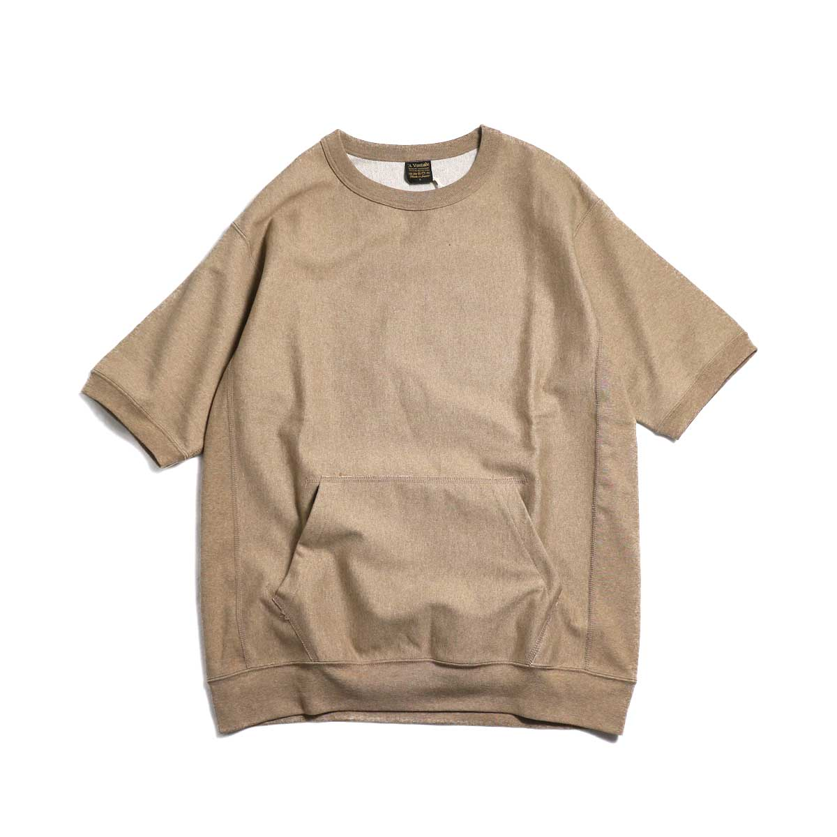 A VONTADE / Reverse Crew Top S/S -Amber Mix 正面