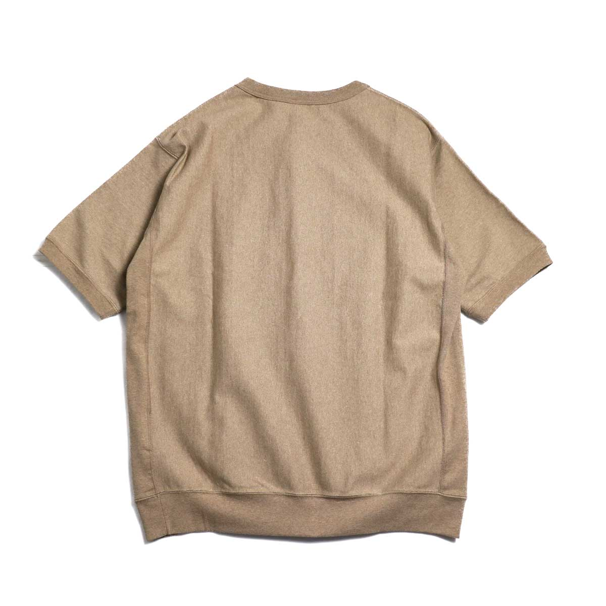 A VONTADE / Reverse Crew Top S/S -Amber Mix 背面
