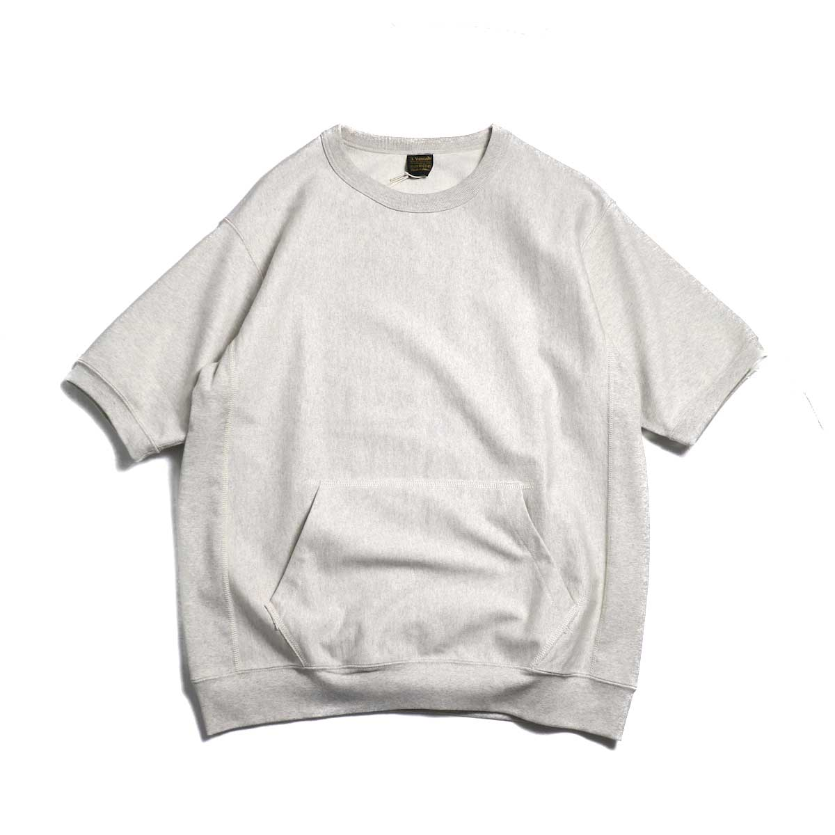 A VONTADE / Reverse Crew Top S/S -Oatmeal