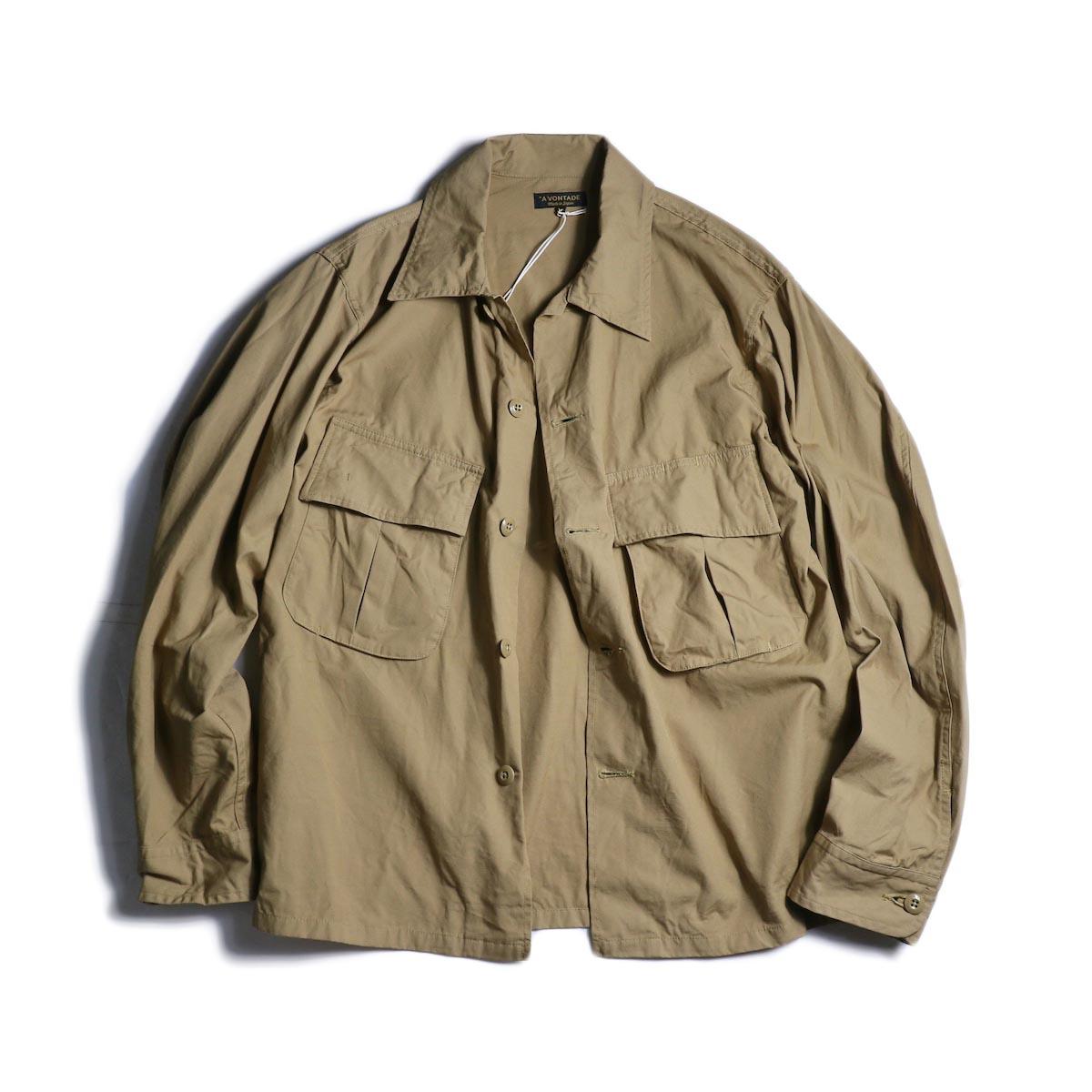 A VONTADE / Combat Tropical Short Jacket (Tan)