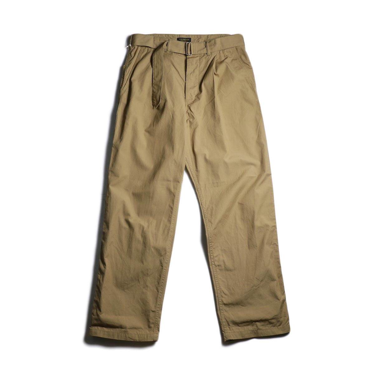 A VONTADE / Mil. Cookman Trousers w/Belt (Tan)