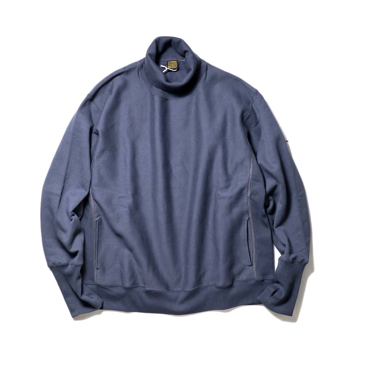 A VONTADE / Turtle Neck Sweat L/S (Fade Navy)