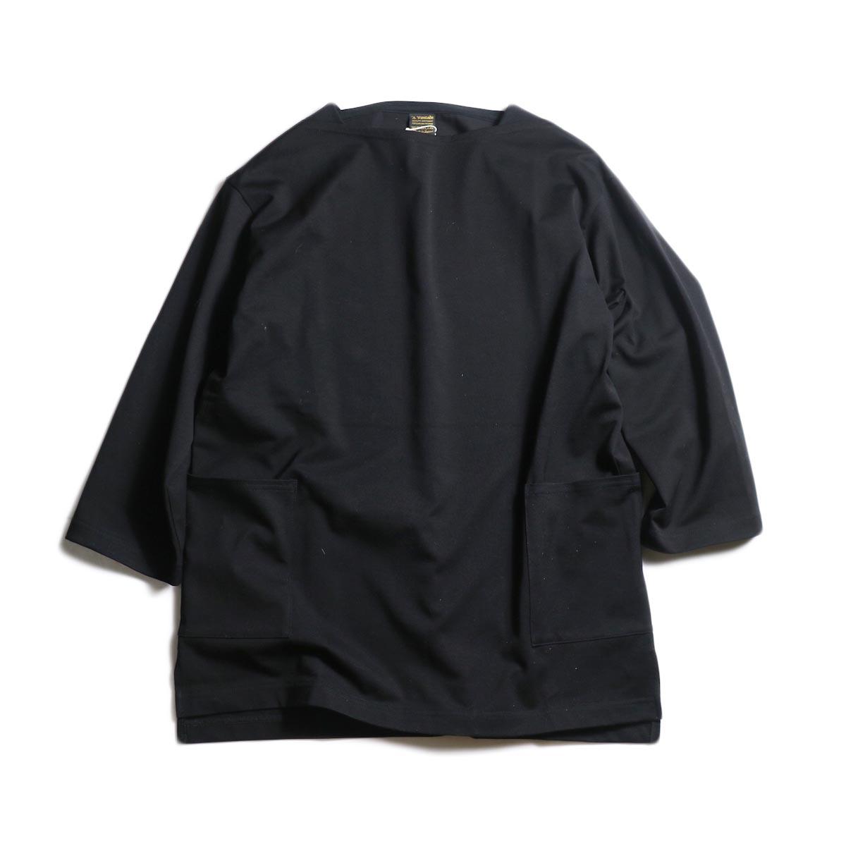 A VONTADE / Boatneck 3/4 Sleeve (Black)