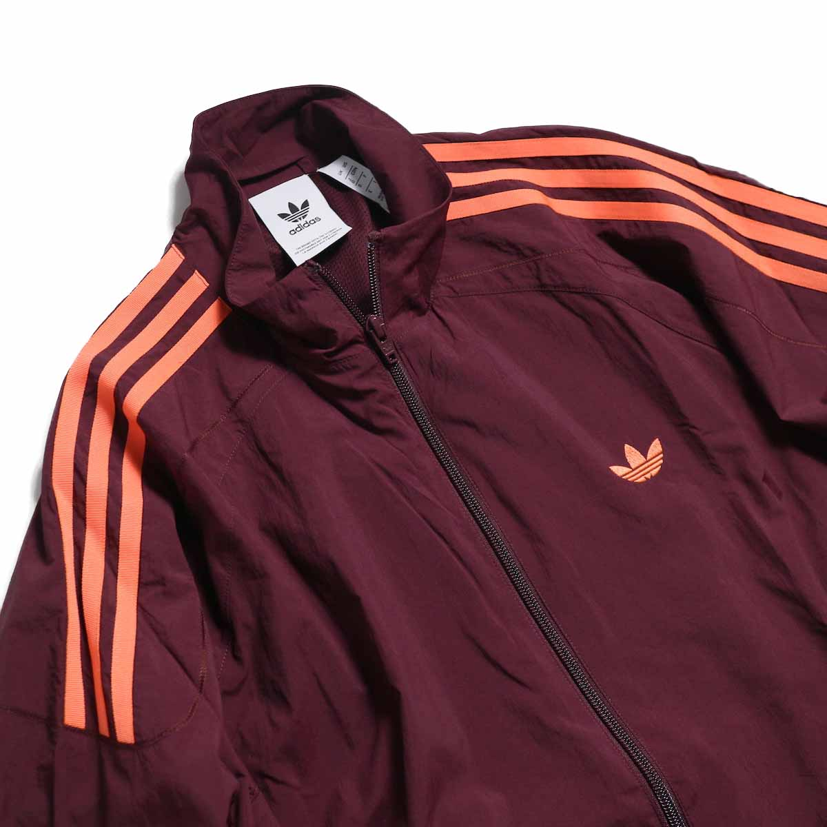 adidas originals / Flamestrike Woven Track Top -Maroon 首元