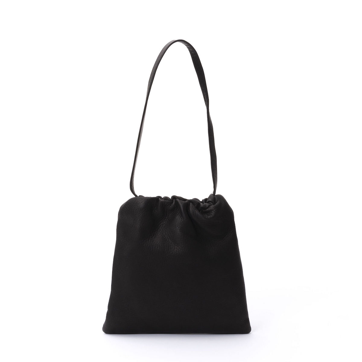 Aeta / DEER LEATHER SHOULDER S (Black)