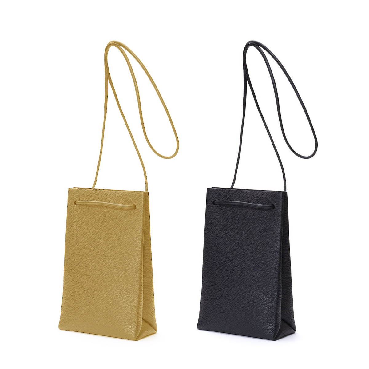 Aeta / PG LEATHER SHOULDER TOTE XS (Black)