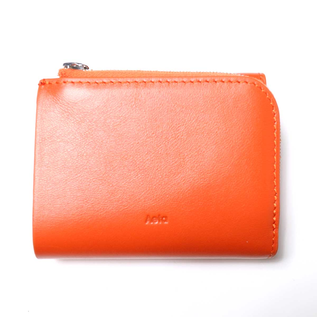 Aeta / FG LEATHER WALLET typeA (ORANGE) 正面
