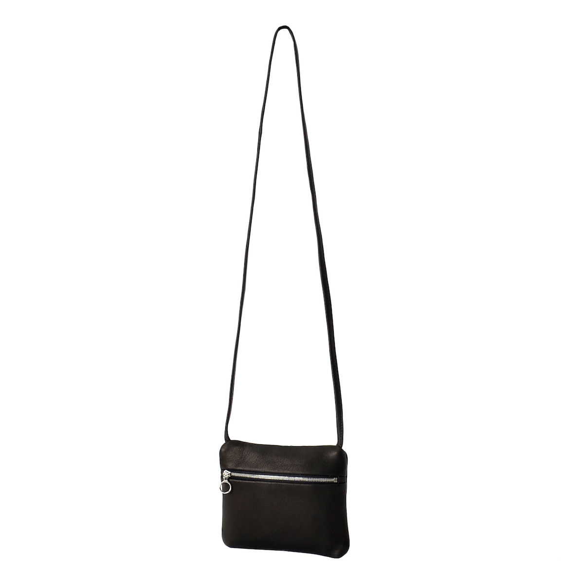 Aeta / DEER LEATHER FLAT POUCH SHOULDER typeA