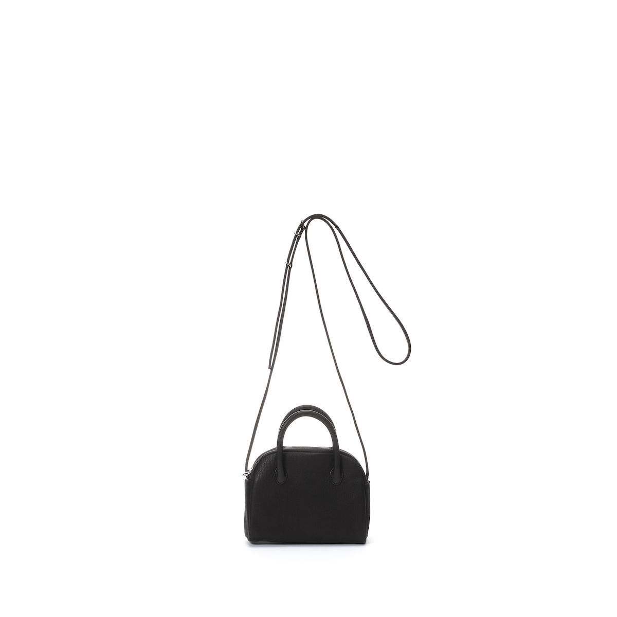 Aeta / DEER LEATHER BOSTON : MINI + SHOULDER (black)