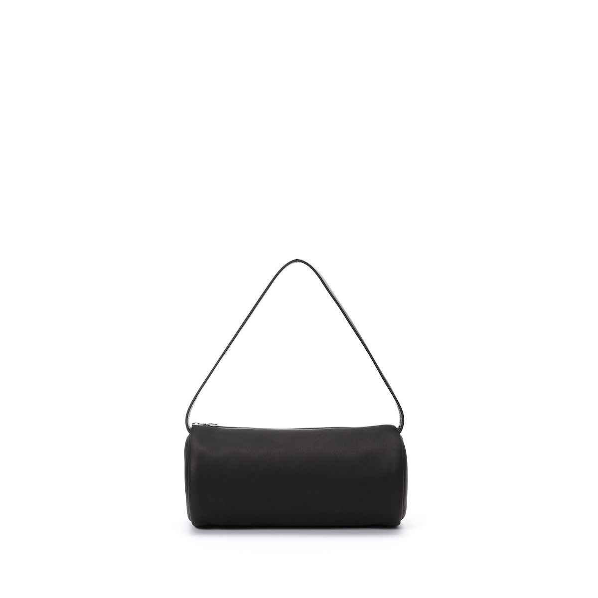 Aeta / DEER LEATHER CYLINDER ONE SHOULDER (black)