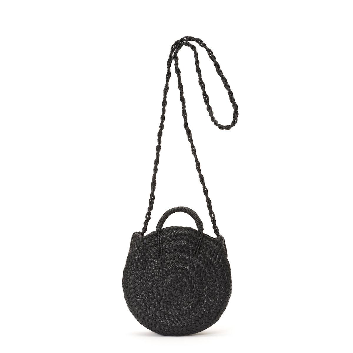 Aeta / LEATHER CIRCLE BASKET S (Black)