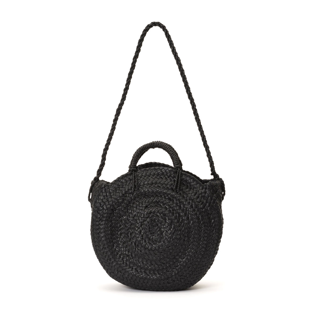 Aeta / LEATHER CIRCLE BASKET M (Black)