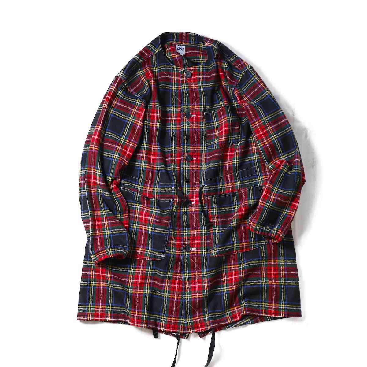 AiE / Gas Cape -Washable Wool Tartan(BLACK)