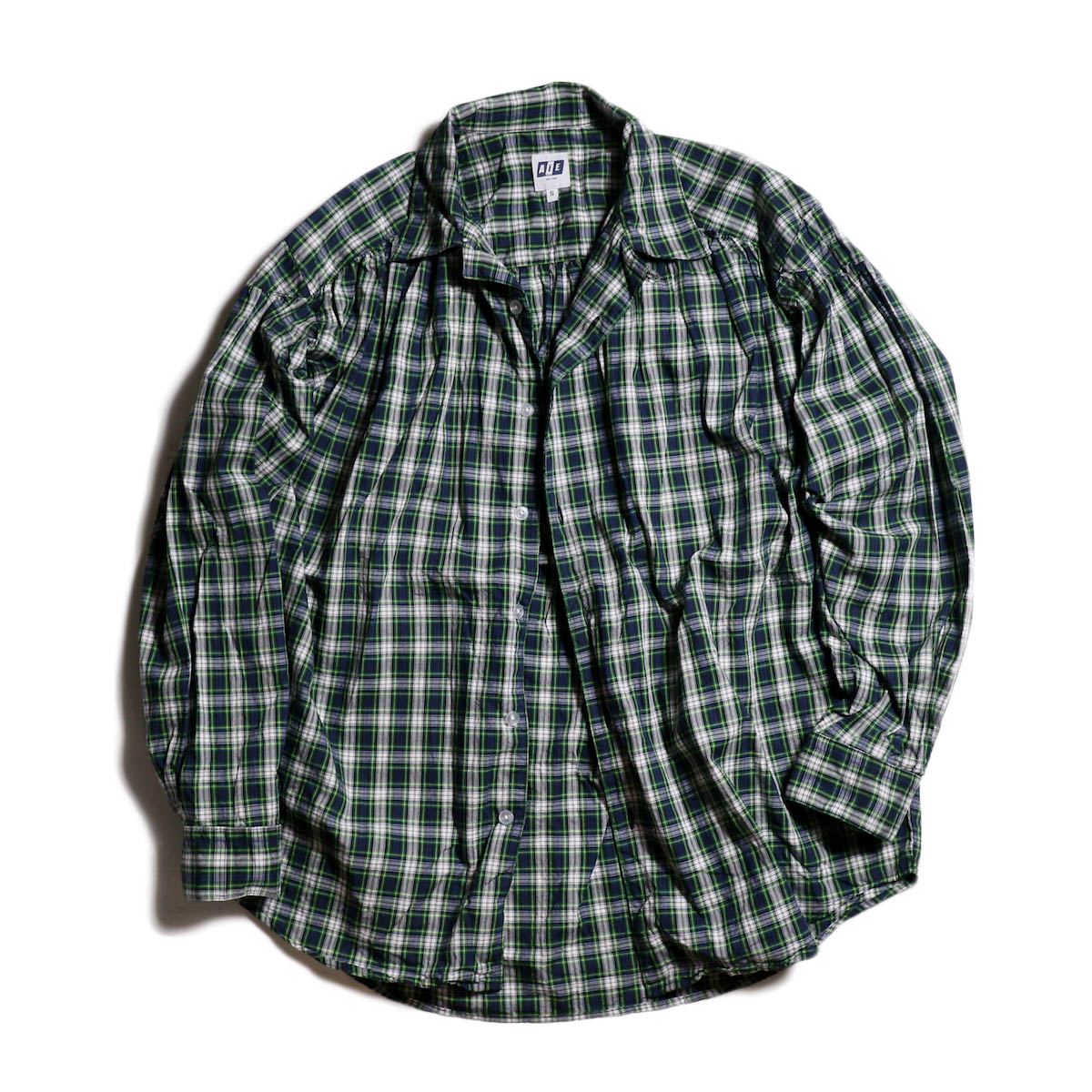 AiE / Painter Shirt -Tartan Check -Grn/Wht