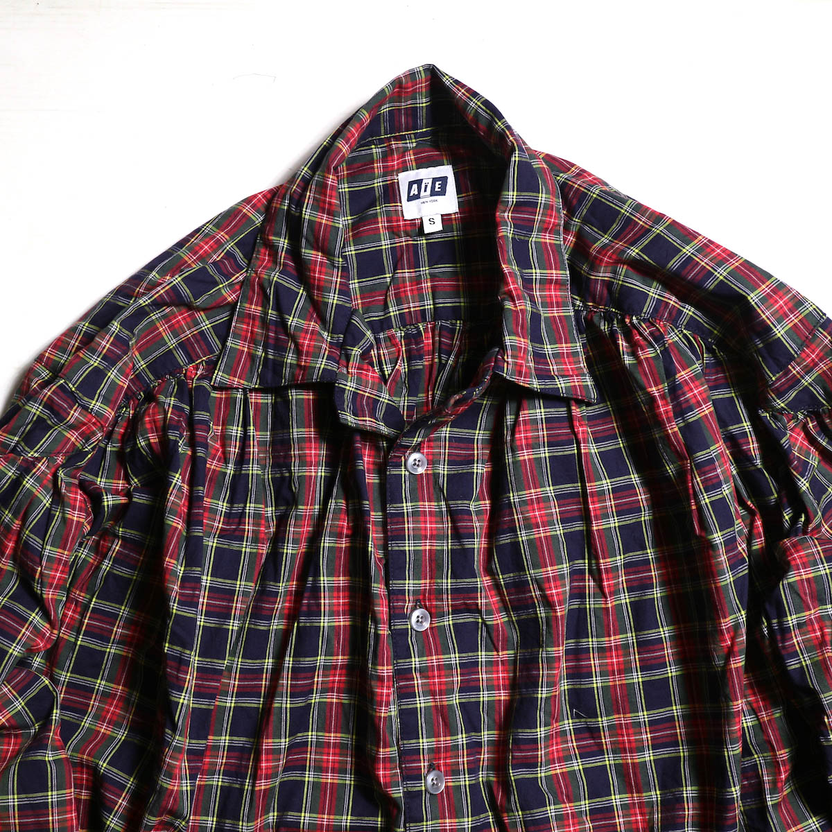 AiE / Painter Shirt -Tartan Check -Nvy/Red