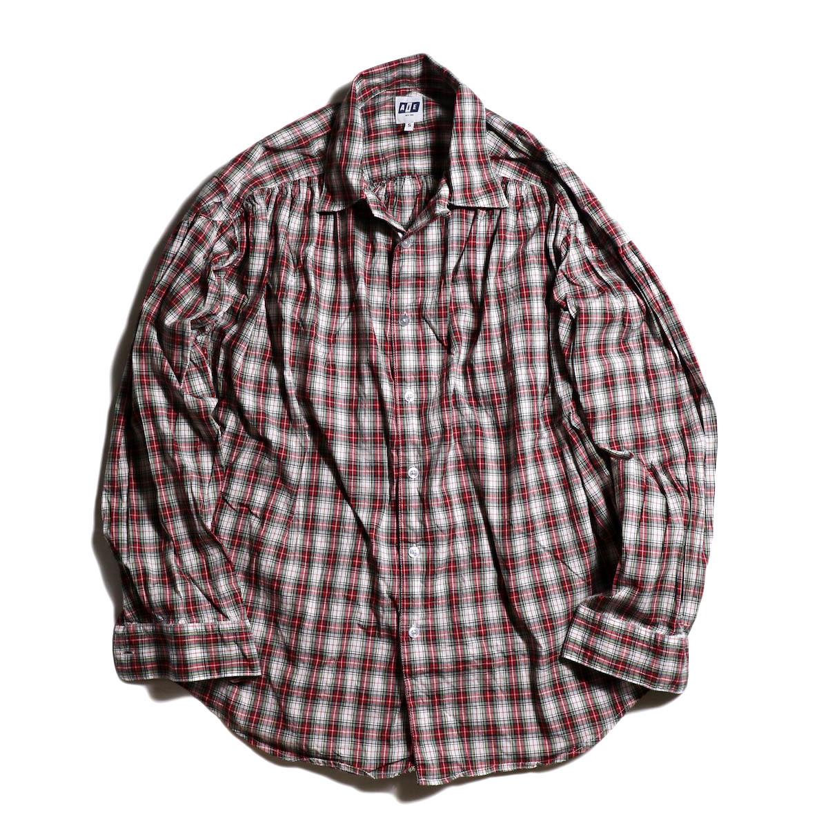 AiE / Painter Shirt -Tartan Check -Red/Wht