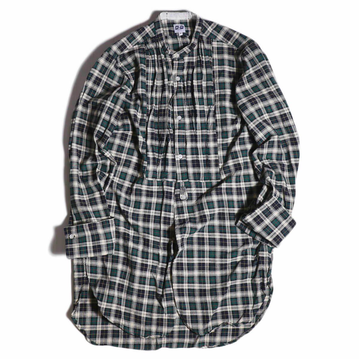 vAiE / Tux Shirt -Hv.Weight Tartan Check -Hunter