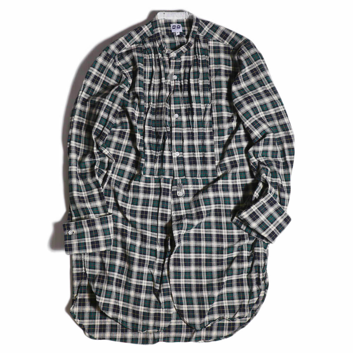 AiE / Tux Shirt -Hv.Weight Tartan Check -Hunter