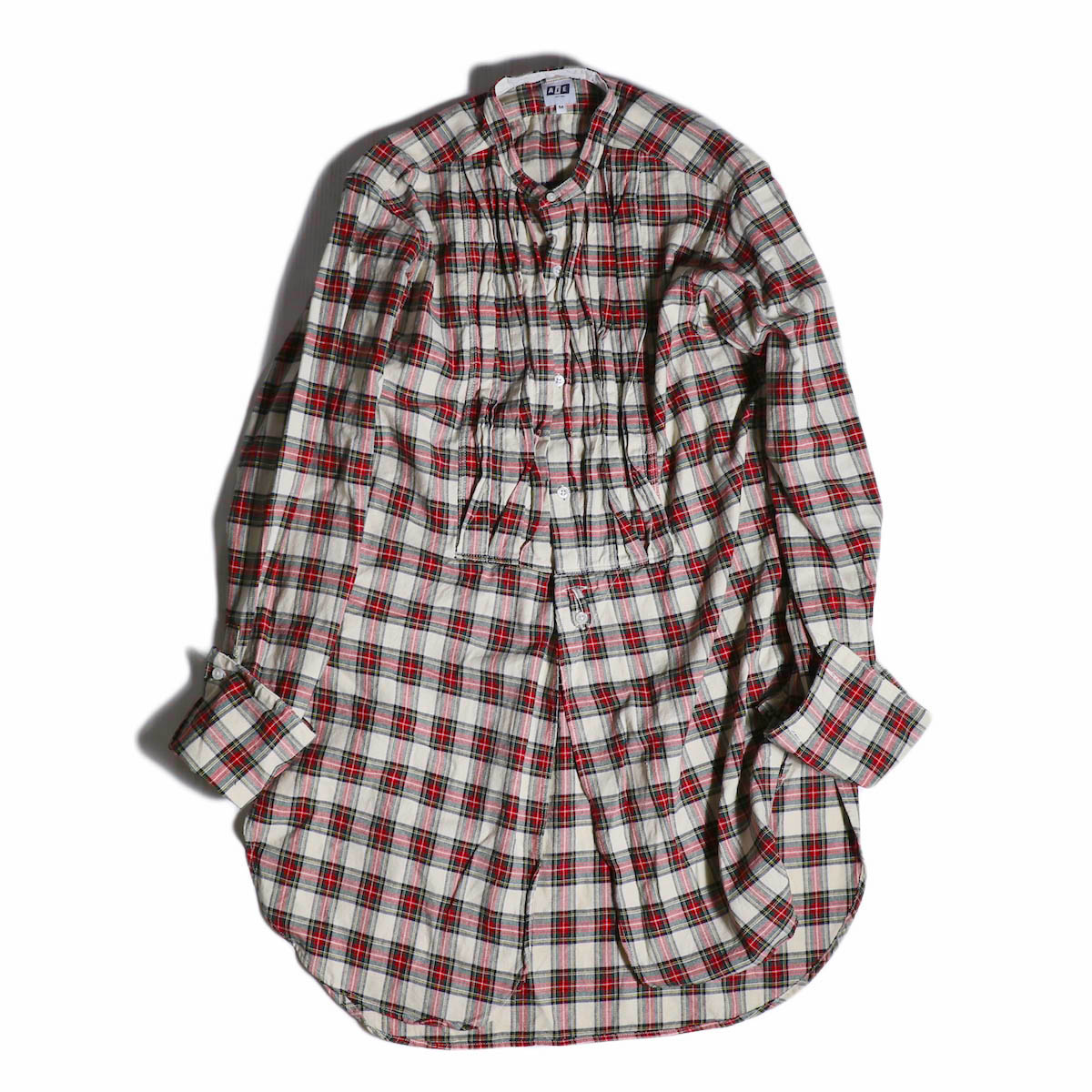 AiE / Tux Shirt -Hv.Weight Tartan Check -Nat/Red