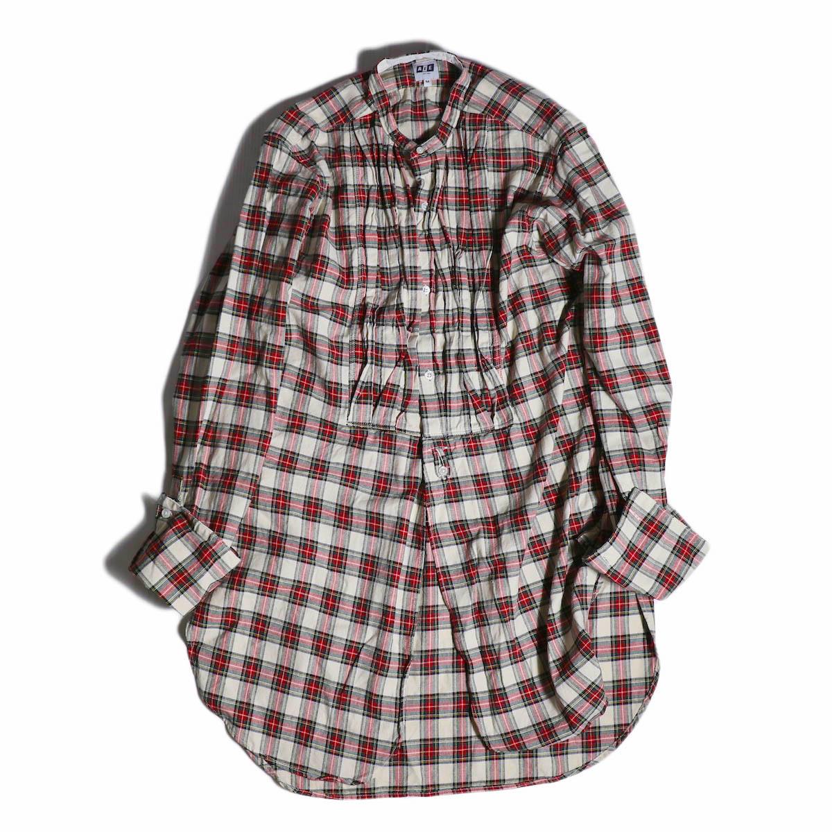 AiE / Tux Shirt -Hv.Weight Tartan Check -Nat/Red