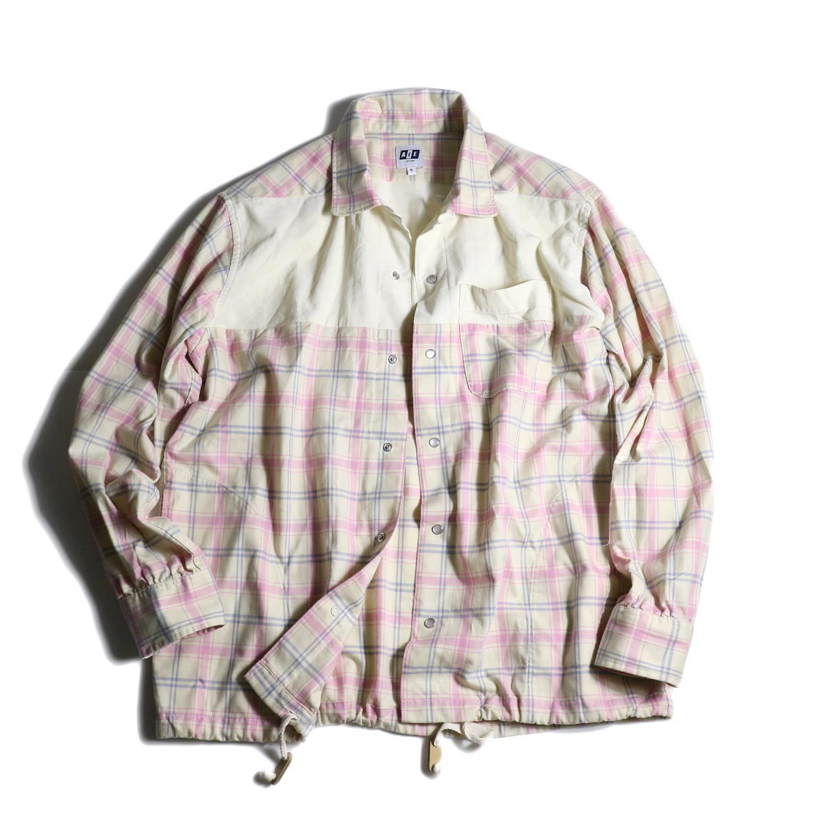AiE / Coach Shirt -Cotton Plaid 正面