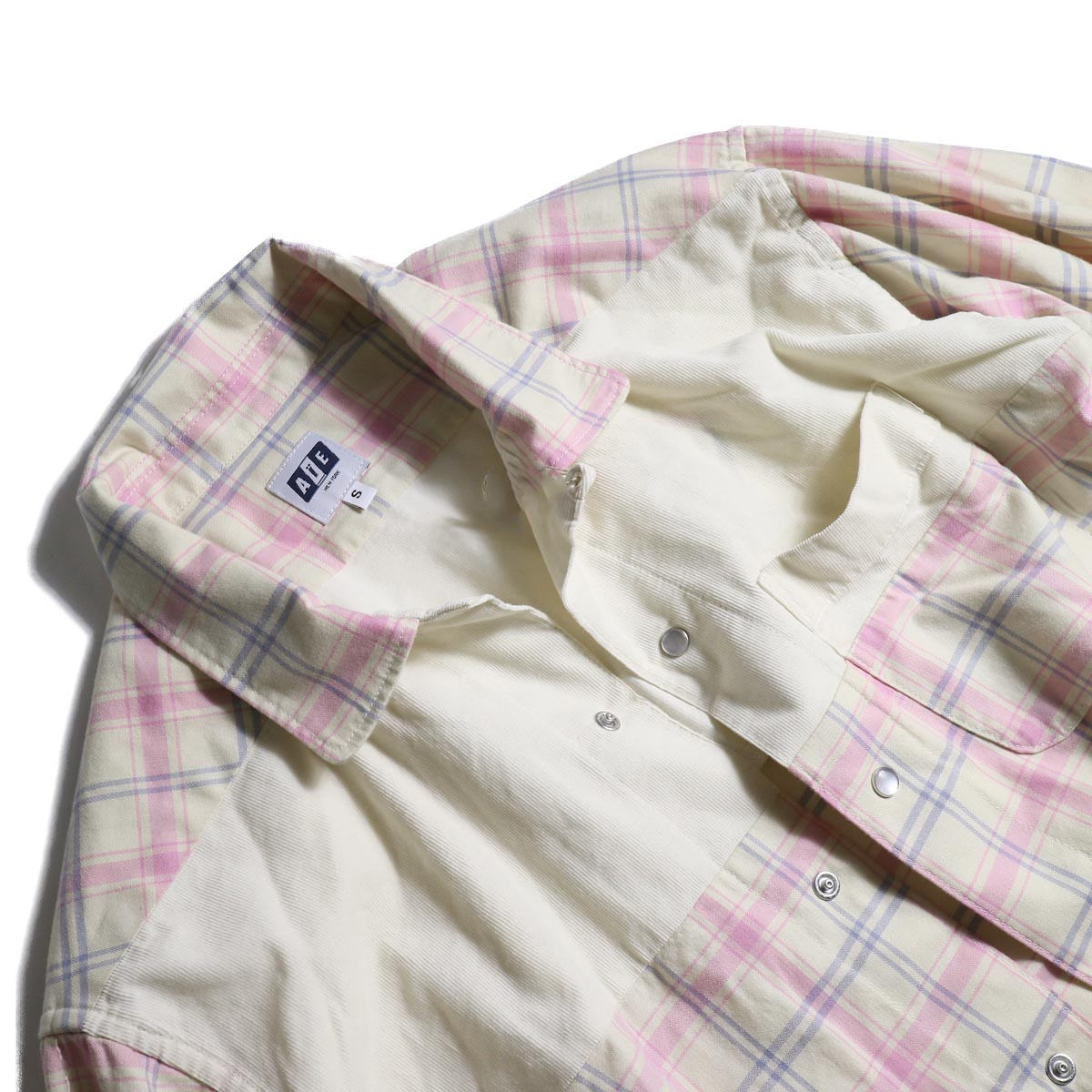 AiE / Coach Shirt -Cotton Plaid   襟