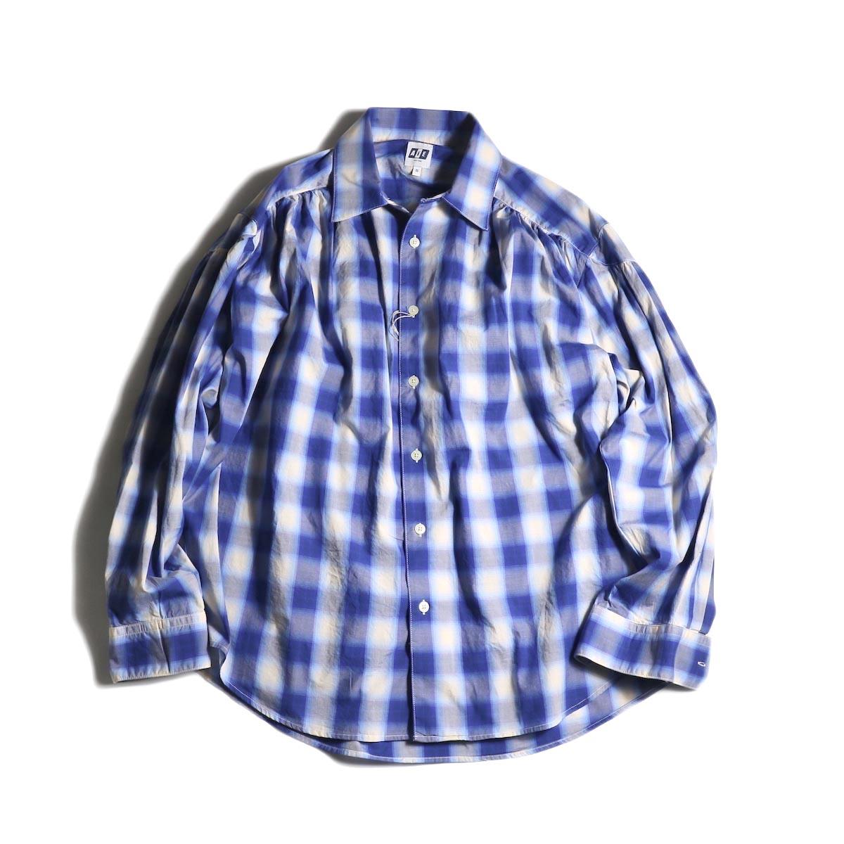 AiE / Painter Shirt -Shadow Plaid (Navy/White)
