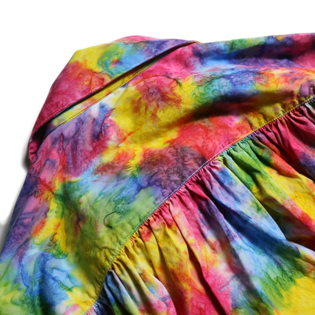 AiE / Painter Shirt -Abstract Batik (Rainbow)ギャザー